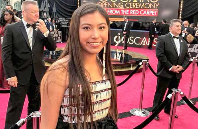 First contemporary indigenous designer to have work worn at the Oscars