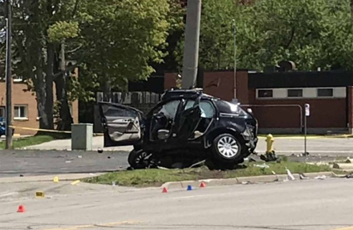 Fatal single vehicle crash on Colborne Street