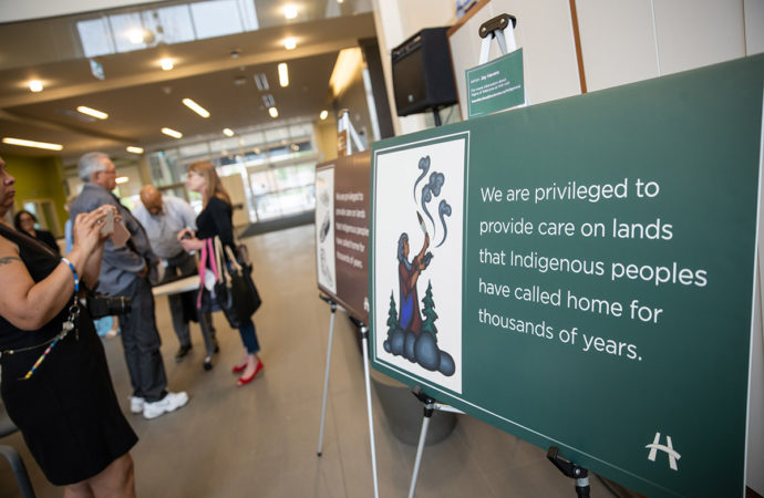 "Indigenous ""Signs of Welcome"" unveiled at Hamilton Health Sciences"