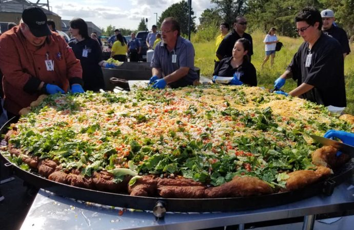 Cass Lake breaks world record for largest Indian taco