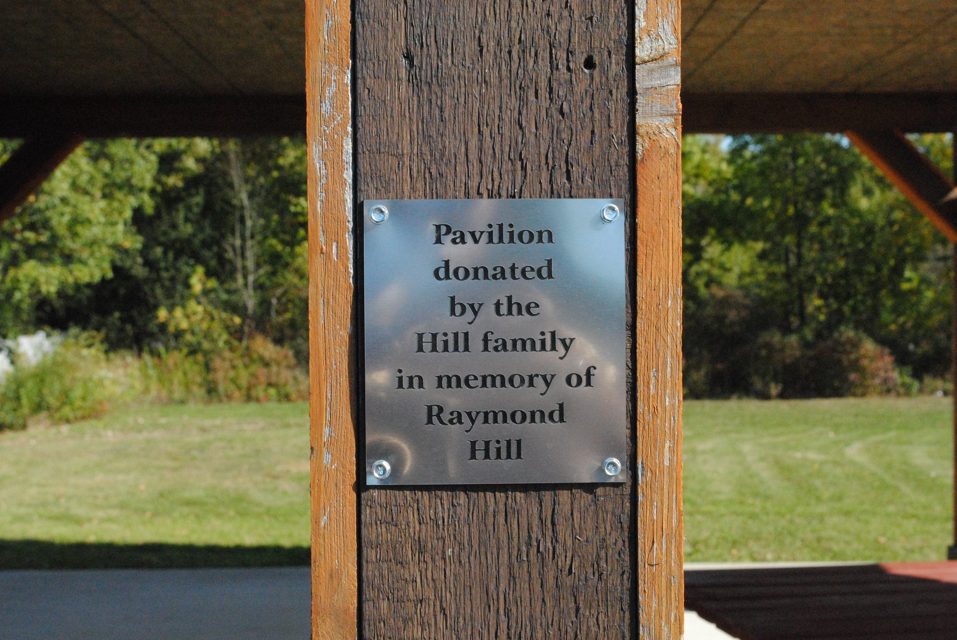 Memorial Park and Pavillion named after veterans
