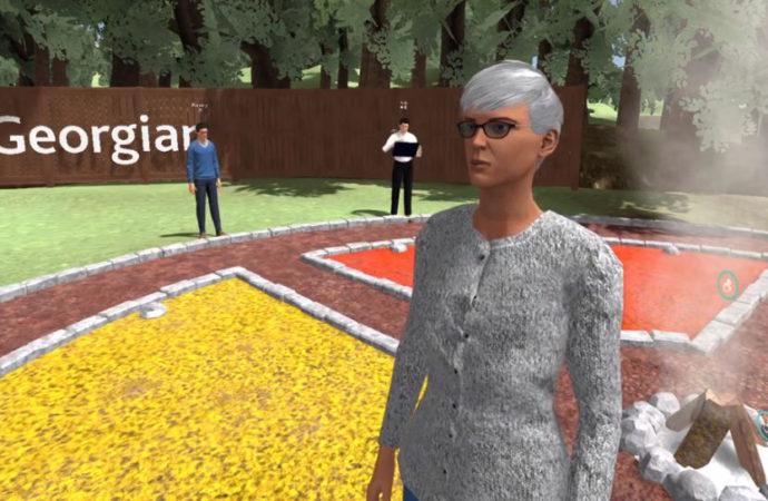 Students learn Indigenous language using virtual reality