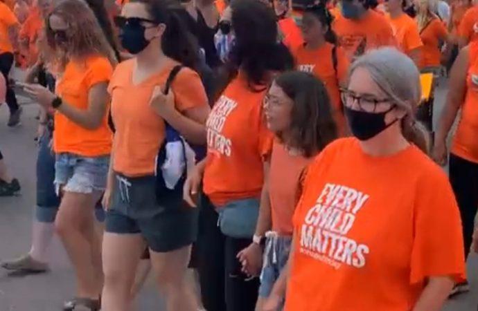 Historic unity march in Brantford honours residential school survivors